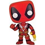 Funko - Figurine Marvel - Deadpool Poulet Caoutchouc Exclu Pop 10cm - 0849803074920
