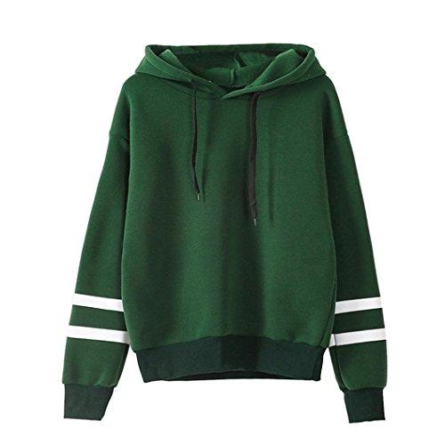 Damen Hoodie Sweatshirt,Dasongff Frauen Kapuzenpullover Langarm Kapuzenpullis Sweatshirt Pullover Tops Bluse (L, Grün) (Hoodie Jacke Grüner)
