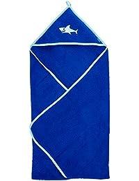 Playshoes Frottee-kapuzentuch Hai, Traje de baño para Bebés, Azul (Blau 7), única (Talla del Fabricante: 100x100centimeters)