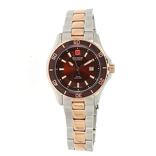 SWISS MILITARY-HANOWA Damen Analog Quarz Uhr mit Edelstahl Armband 06-7296.12.005