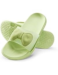 William&Kate Zapatillas de Mujer de Colores EN Verano Zapatillas Antideslizantes Ocasionales Zapatillas de Baño de Suelo