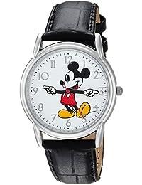 Disney Men's 'Mickey Mouse' Quartz Metal Casual Watch Color:Black (Model: WDS000403)