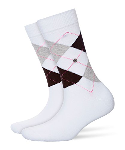 Burlington Damen Strick Socken Queen, Weiß (lightning-white 2001), 36/41