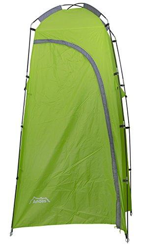 Andes Dusch- & Toilettenzelt zum Camping - tragbar - Umkleide + Lagerungsmöglichkeit