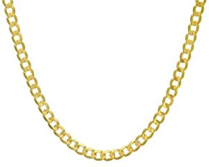 Citerna 9 ct Yellow Gold 26.6 g Curb Necklace of 46 cm/18 Inch Length and 7.3 mm Width