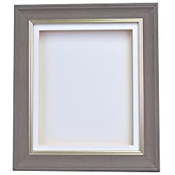 Cornwall Range Shabby Chic Antique Distressed 1inch Deep 3d Shadow Box Frame-a4-charcoal Grey