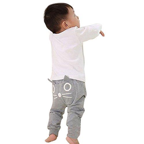 JYJM Nette Baby Kinder Karikatur Katze Harem Hosen Hosen Hosen (Size:12 Monate, (Harem Hosen Kostüme)
