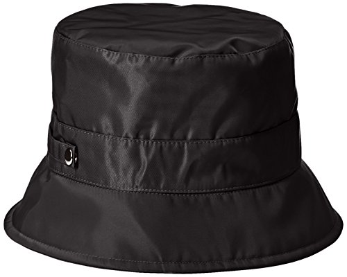 san-diego-hat-company-womens-nylon-rain-bucket-hat-with-functional-closure-black-one-size