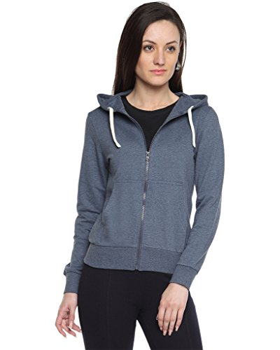 Campus Sutra Women's Cotton Zipper Hoodie