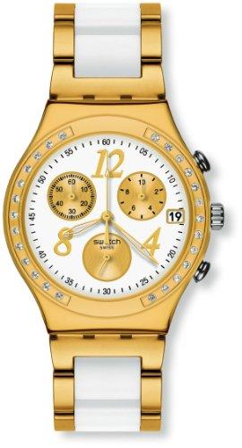 Swatch DreamWhite Yellow YCG407G - Orologio donna