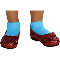Wizard of Oz Dorothy Deluxe Sequin Shoes, Toddler 1-2 (75th Anniversary Edition) by Rubie's