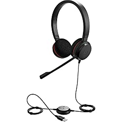 Jabra Evolve 20 UC Stereo Wired Headset / Music Headphones (U.S. Retail Packaging)