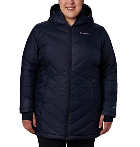 Columbia Heavenly Damen Kapuzenjacke, lang, Übergröße, HeavenlyTM Long Hooded Jacket, Dark Nocturnal, 2X Womens Storm Front Jacket