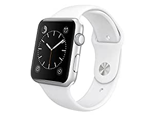 Apple MJ3N2FD/A Aluminium Sportarmband für Apple Watch (42 mm) sliber/weiß