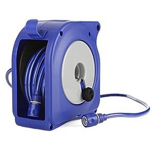 Tatay 42701 Nano Enrollador Manual de Manguera Apto para Colgar en la Pared con Conector 3/4″ y racords, Azul, 27 x 20 x 28 cm