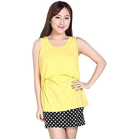 Malloom® Incinta di maternità magliette Infermieristica Tops Maglietta allattamento al seno Vest