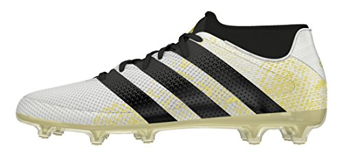 adidas Ace 16.2 Primemesh, Chaussures de Football Homme Blanc (Ftwr White/Core Black/Gold Met.)
