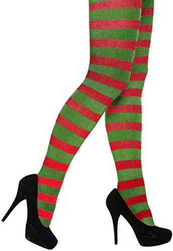 Damen Elf Santas Helper Hat Schuhe Strumpfhosen Weihnachts Fancy Kleid Mädchen Weihnachten ()