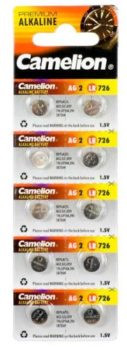 Camelion 12051002 Alkaline Knopfzelle 1,5 V 10 Stück Silber