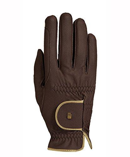 Roeckl Sports Damen Handschuh Lona, Damenreithandschuh, Mokka/Gold, 6,5