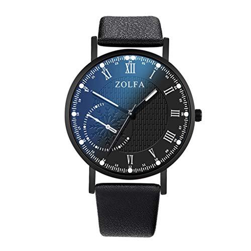 Skryo Luxusuhren Quarzuhr Edelstahl Zifferblatt Casual Armband Uhr (Schwarz)