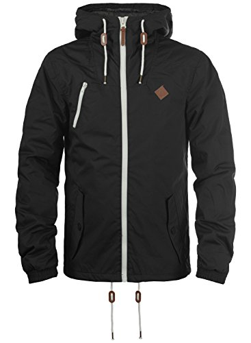 !Solid Tilden Herren Übergangsjacke Herrenjacke Jacke Mit Kapuze, Größe:L, Farbe:Black (9000)