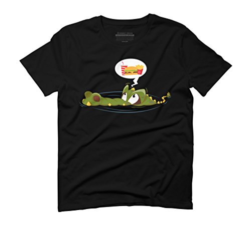 Hungry crocodile Men's Graphic T-Shirt - Design By Humans Black