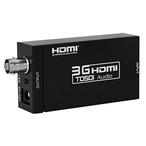 aoeyoo Mini HDMI zu SDI HD Video Audio Konverter Wandler HDMI IN SDI out für die 3 G SDI HD-SDI 3 G-SDI Blinker 1080P
