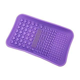 Cutebao Make-up Pinsel Reiniger Silikon Matte Pinselreiniger Generic Pad Beauty Produkte Makeup Zubehör Portable Reinigungsgerät Rechteckig Bürstenreiniger Werkzeug Blender Brush Cleaner Lila