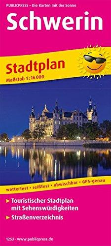 Schwerin: Touristischer Stadtplan mit Sehenswürdigkeiten und Straßenverzeichnis. 1:16000 (Stadtplan / SP)