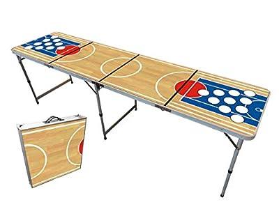 Table Beer Pong Officielle Premium Haute Qualité Version Basket - Dimensions Officielles Compétition- Résiste aux Rayures et Éclaboussures - Facilement Transportable