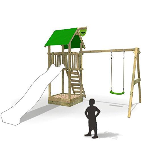 FATMOOSE Spielturm MagicMonkey Ultra XXL Kletterturm Baumhaus mit Schaukel ohne Rutsche