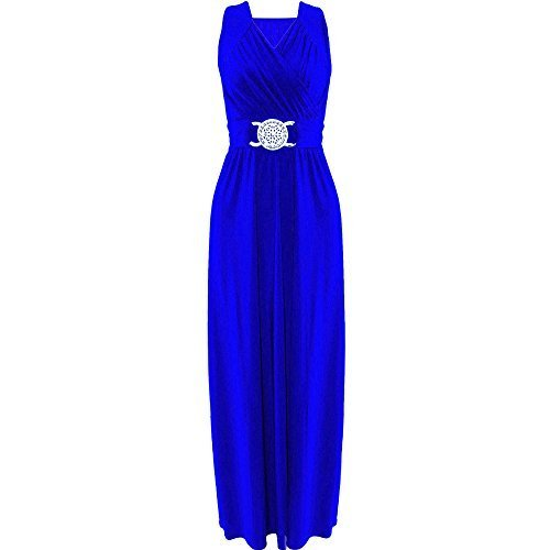 Generic - Robe - Femme noir noir Royal Blue - Full Ankle Lenght Loose Tie Back