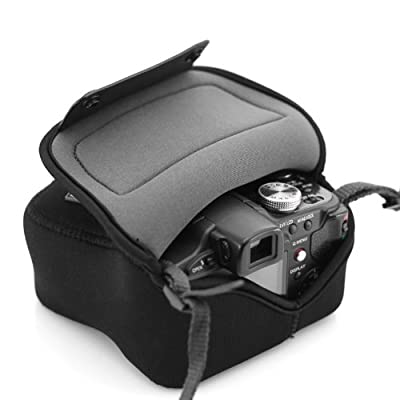 USA GEAR Housse Etui Appareil Photo Bridge Néoprène Résistant Compatible avec Panasonic Lumix DMC-FZ1000 , Nikon Coolpix B500 , Canon PowerShot