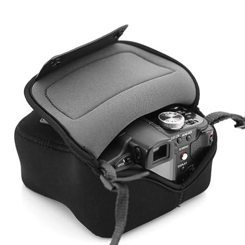 USA GEAR Housse Etui Appareil Photo Bridge Néoprène Résistant Compatible avec Panasonic Lumix DMC-FZ1000 , Nikon Coolpix B500 , Canon PowerShot