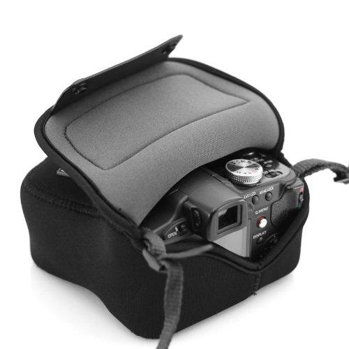 USA GEAR Kameratasche Kompakte Brücke Neopren-resistent Kompatibel mit Panasonic Lumix DMC-FZ1000, Nikon Coolpix B500, Canon PowerShot und mehr