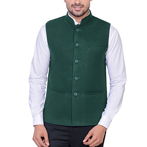 Masculine Affair Dark Green Nehru Jacket