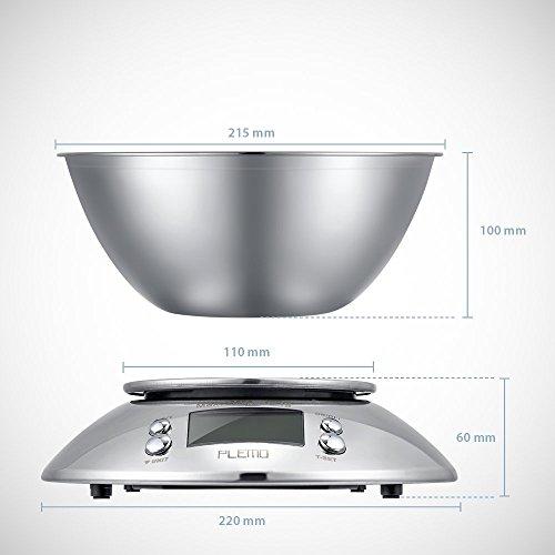 vente plemo balance de cuisine multifonctions avec bol en acier inoxydable alarme minuterie et. Black Bedroom Furniture Sets. Home Design Ideas