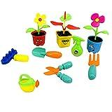 MagiDeal 9 Stücke Gartengeräte Spielzeug Set Pädagogisches Spielzeug Für Kinder Gärtner Rollenspiel