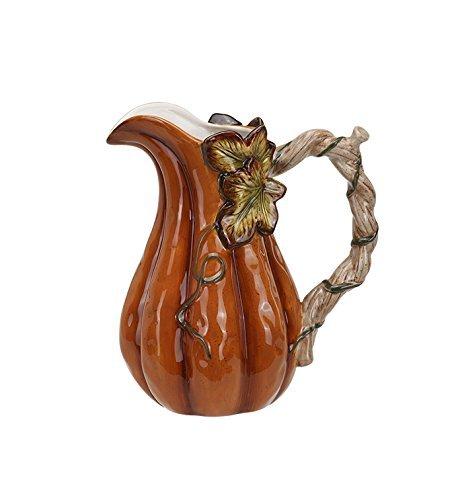 Harvest Kürbis hoch 18,4cm glasiert Dolomite Tischplatte Wasser Krug