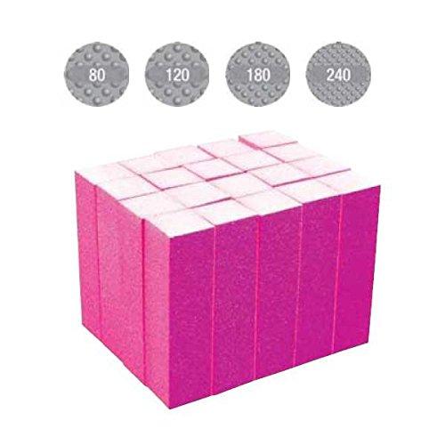 Sibel nails Ponce Bloc 4 faces Grain 80, 120, 180, 240 x 20 Pièces