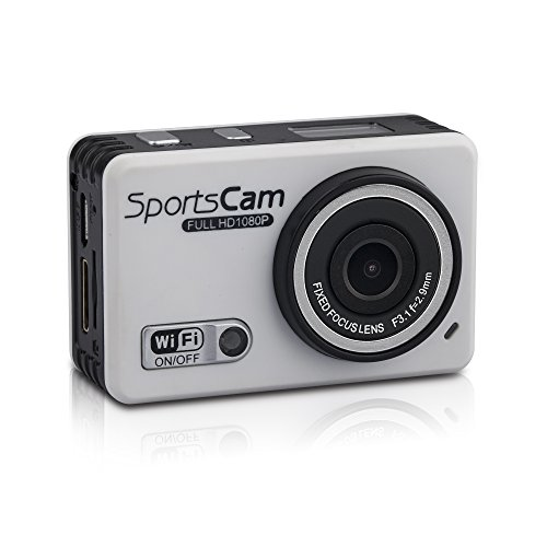 Action Cam FULL HD 1080p WIFI Smartphone Unterstützung Action Kamera Smartphone Unterstützung 120° Ultra Weitwinkel mit wasserdichtem Gehäuse Sport Cam mit 5MP Camera ULTRA viel Zubehör 148 Ost-microsd