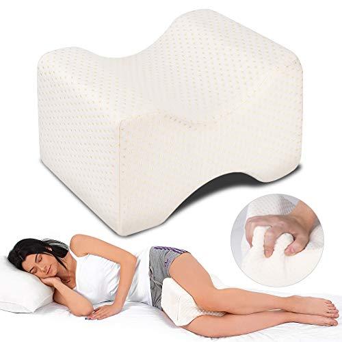 Almohadas para piernas para dormir, Dioxide Cojín ortopédico para almohada con de memoria, Alivia...