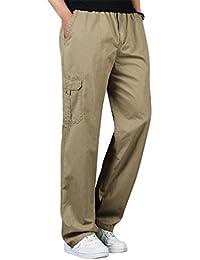 Baymate Hombre Pantalón Largo Cargo Pant Casual Verano Pantalones