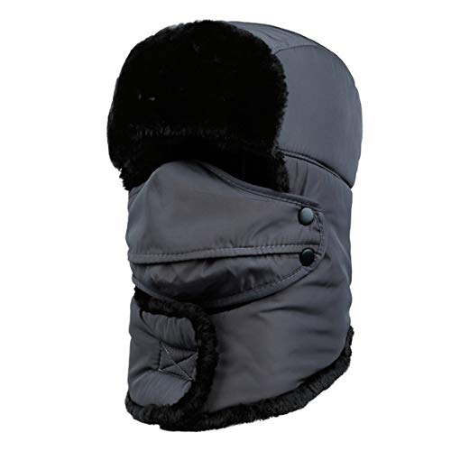 Queenbox® Winter Balaclava Beanie Hat Weiblich für Frauen Männer Gesichtsmaske Motorhaube Winddicht Dicke Warme Schnee Ski Winter Hut Kappe (Schnee-hut Gesichtsmaske Männer)
