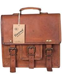Hrone Single Pocket Leather Messenger Bag