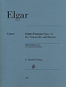 Elgar Salut d'amour Op12 - cello and piano - urtext - score and parts - ( HN 1189 )