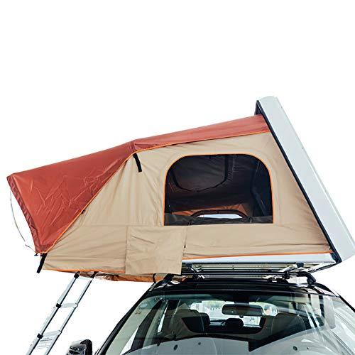 Qiulv Car Roof Carpa Tiendas de Techo Cámping Shell Carpas duras Mover Cama Resistente al Agua, protección UV Sol Desierto Adecuado, montañas Nevadas Cabaña Portatil (No incluído Coche)