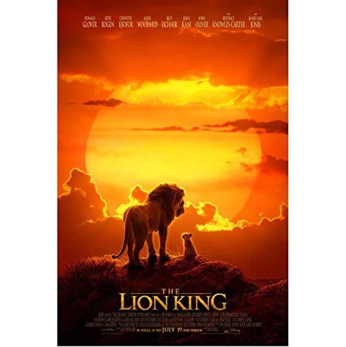 könig der löwen neuverfilmung filmposter leinwand