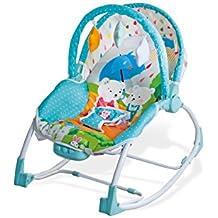 Asalvo Evolutiva - Hamaca para bebé, diseño Ositos, color azul